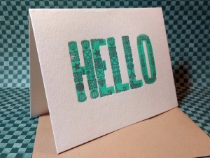 Hello Card Ornaments web