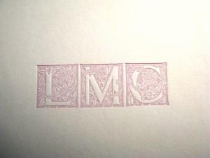 Close-up of the monogram