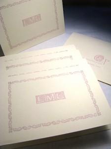 Letterpress Monogram Stationery