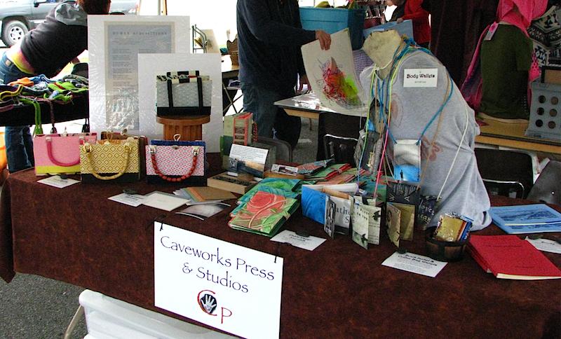 Caveworks Press table at Mohair Pear Fair