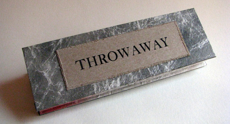 THROWAWAY  by Julie Russell-Steuart closed book