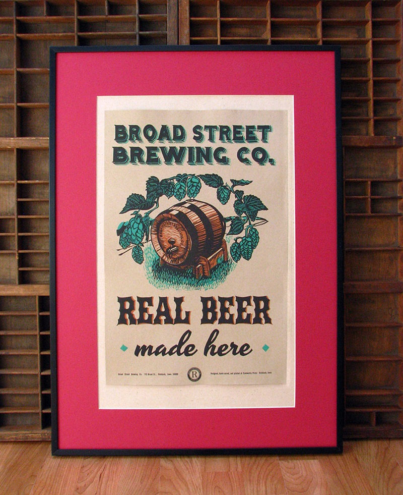 Broad St. Brewing Poster by Caveworks Presss