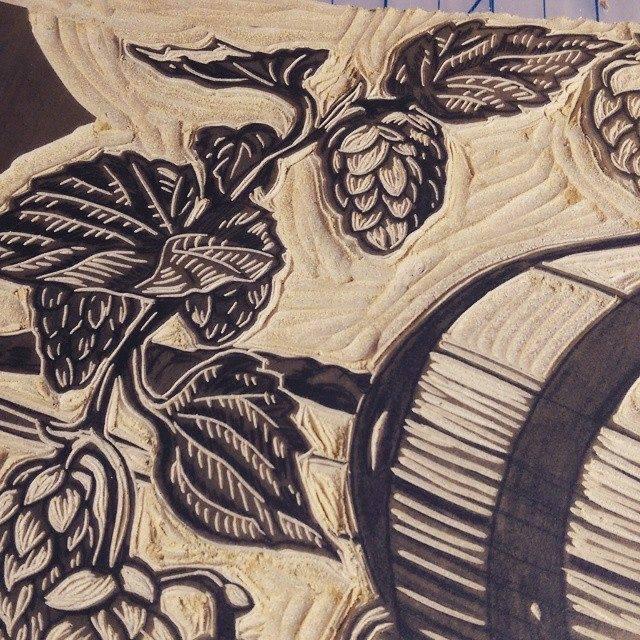 leaf details Caveworks Press