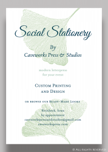 © Caveworks Press & Studios Social Stationery