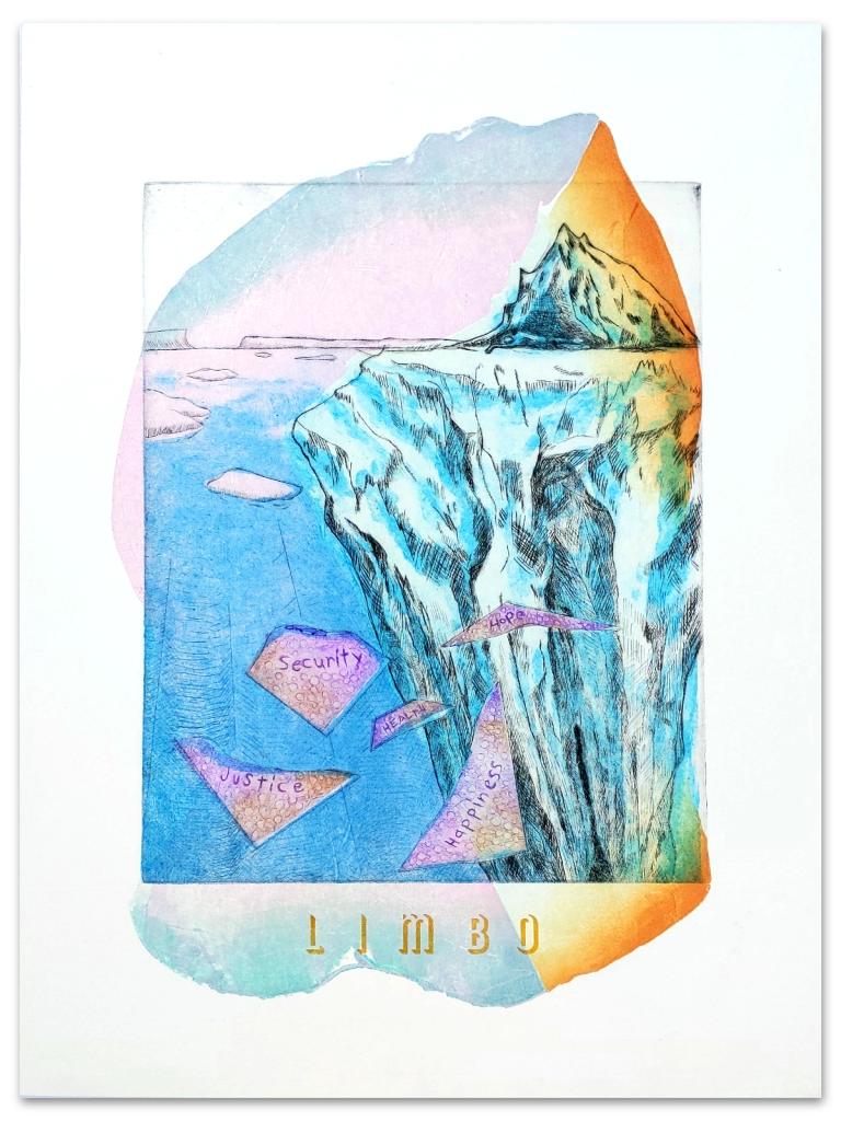 """The finished print """"Limbo :: Ephemera No. 4"""""""